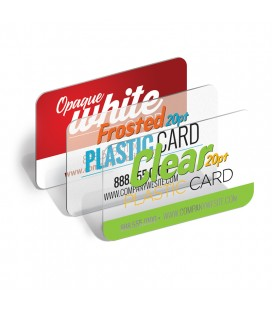 Plastic White Business Cards